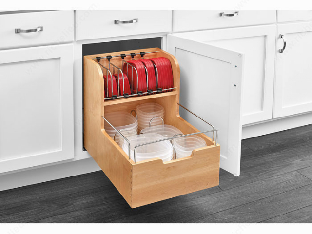 Pull-Out Container Storage with Dividers