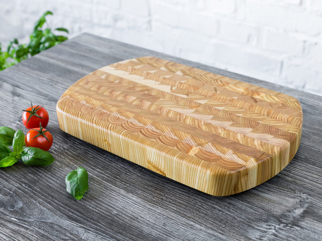 End curve cutting board